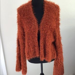 FREE PEOPLE FUZZY CARDIGAN